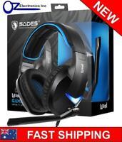 Sades Wand USB PC Gaming Headphones Headset No Driver 7.1 Surround Sound NEW