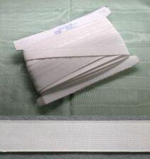 Elastic White Non Roll 20mm x 25 metres