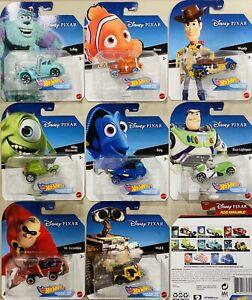 Hot Wheels Disney Pixar Character Cars Set Of 8