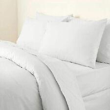 Hotel Quality 800 TC Egyptian Cotton White Solid 4 PC Sheet Set US Full Size