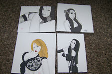 "Original Art Drawing Lot Sexy Sultry Female Fantasy Girl Women Long Hair 8"" x 7"""