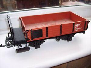 LGB G SCALE MODEL RAILWAY BROWN OPEN WAGON      (ROLLING STOCK)