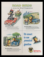 1956 Ethyl Corporation Road Birds Gasoline Series Vintage Print Ad