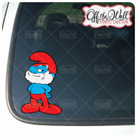 Papa Smurf Vinyl Decal Sticker