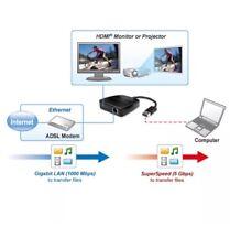 USB 3.0 to HDMI 1080p Full HD & Gigabit Ethernet RJ45 LAN Adapter Converter HDTV
