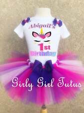 Unicorn 1st, 2nd and up Birthday Tutu Outfit Party Dress Set Gift Favor