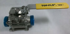 "Top Line 1 1/2"" Stainless Steel Ball Valve Cf8M 1000 Wog - Top-Flo"