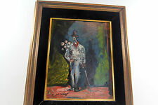 VINTAGE CLOWN OIL PAINTING  BY LISTED CALIFORNIA ARTIST PASCAL CUCARO