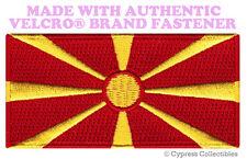 MACEDONIA FLAG PATCH Yugoslavia MACEDONIAN EMBROIDERED w/ VELCRO® Brand Fastener