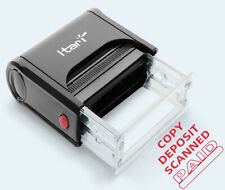 Custom Self Inking Rubber Stamp with RED INK PAID COPY SCANNED Stamp