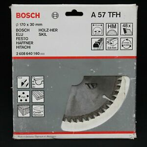 Bosch A57TFH 170mm x 30mm 48T TCT Circular Saw Blade Wood, PVC & Alu. Germany