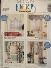 McCALLS 2019 Window Treatments/90 Minute Swags~Valances~Drapes~Panels PATTERN UC