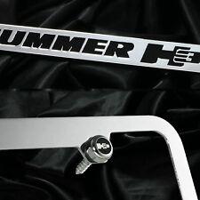 New chrome license plate Hummer H3 Black words cast zinc frame front rear