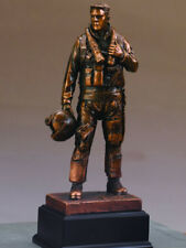 "Air Force Copper Statue Figurine 4.5""x 11.5"""