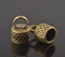 10Pcs End Caps Bead Stopper Fit 7mm Cord Bracelet Marking Jewelry Golden