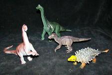 2000 Toy Dinosaur Lot Large Plastic Eucploocephallue~Velocira ptor~Brachiosaurus