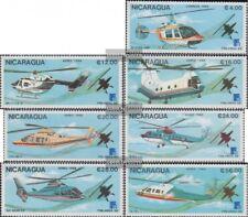 Nicaragua 2879-2885 (complète edition) neuf avec gomme originale 1988 hélicoptèr
