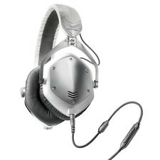 V-Moda Crossfade M-100 Noise-Isolating Over-Ear Metal Headphones (White Silver)