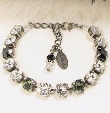 BLACK Diamond Crystal BRACELET BLACK Cup Chain Bracelet w/ Swarovski Crystals