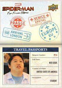 Spider-Man Far From Home Movie STUDENT PASSPORTS Trading Card Insert PP-4