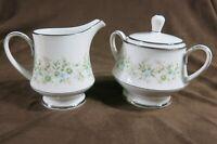 Noritake China Creamer and Sugar Bowl Set Savannah Pattern