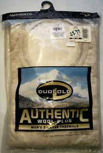 Duofold Authentic Wool Plus Men's Long Sleeve Crew Thermal Size L Large Gray NOS