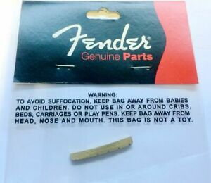 Genuine USA Fender Yngwie Upgrade Slotted Brass NUT for Strat Tele Guitar NecK