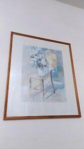 "Print ""Straw Hat"" by Sarah Bibra Framed 61cm 51cm"