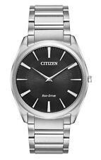 Citizen Stiletto Black Dial Stainless Steel Mens Watch AR3070-55E