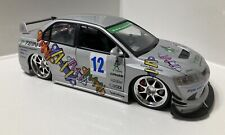 JADA 1:18 Diecast Import Racer Series SILVER Mitsubishi Lancer Evolution VIII