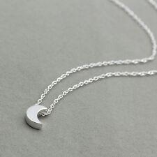 Fashion Women Gold Plated Moon Bib Statement Chain Pendant Necklace Jewelry