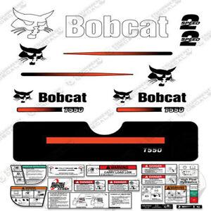 Bobcat T550 Compact Track Loader Decal Kit Skid Steer (Straight Stripes)
