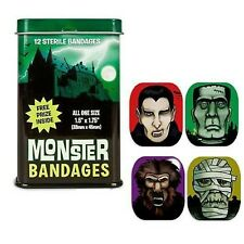Monster 12 Bandages in Tin w/FREE PRIZE Inside By Accoutrements Latex-free