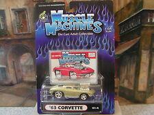 MUSCLE MACHINES 1963 CORVETTE SPLIT WINDOW COUPE 1:64 DIE-CAST #71161