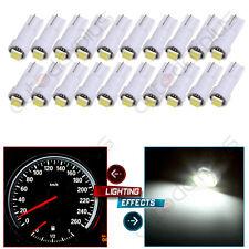 20pcs White T5 74 73 2-2835-SMD Instrument Gauge Dash Indicator LED Light Bulbs