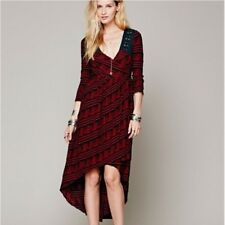 Free People New Romantics Lelani Wrap Dress Hi Low 3/4 Sleeve Sz XS Boho Hippie