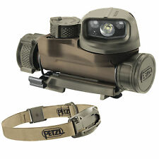 Petzl STRIX IR Infrared Military Head Torch Helmet Light MOLLE Flashlight Coyote