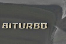BITURBO BADGE CHROME EFFECT MERCEDES BENZ C63 S63 E63 ML63 SL63 SL55 CLK55 SLK55