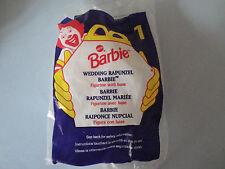 1996 McDonald's Happy Meal Barbie #1 Wedding Rapunzel Barbie MIP Sealed