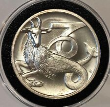 High Relief Capricorn 10th Astrological Zodiac 1 Troy Oz .999 Fine Silver Round
