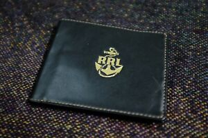 RRL Authentic Goat skin  sheepskin  Leather Folded Wallet New