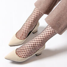 Fashion Harajuku Solid Black Breathable Fishnet Socks Cool Female Sexy Nets