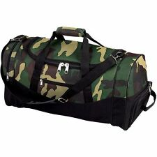 """Army Camo 23"""" Outdoor Duffle Bag, Mens Carry-On Travel Overnight Luggage Tote"""