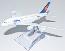 A380 AIRBUS LUFTHANSA AIRLINES 16CM METAL PLANE MODEL DIECAST STAND GIFT GERMANY