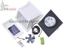 day/night Solar wall Fan Exhaust Vent Caravan pet hutch dog kennel separated PV