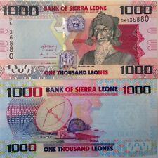 SIERRA LEONE 2010 1000 LEONES UNCIRCULATED BANKNOTE P-30 BAI BUREH USA SELLER !