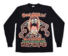 Vintage Looney Tunes Taz Tazmanian Devil Black L/S Halloween Graphic Shirt Sz L