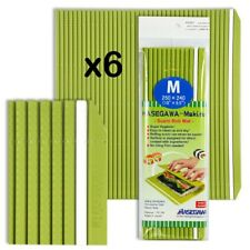 "Set of 6 Japanese 10"" x 9.5"" Professional Plastic Sushi Roll Mat Made in Japan"
