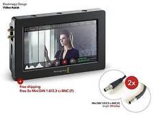 """NEW Blackmagic Video Assist 5"""" HDMI SDI Monitor & SDHC Recorder for Camera/DSLR"""