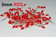 100pcs 3mm RED Round  Lens Super Bright Leds Light Bulb Lamp USA A245